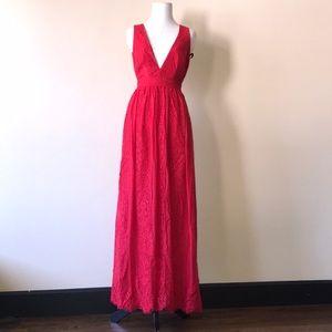 Bebe lace Maxi dress 00
